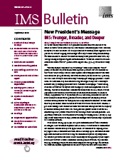 IMS Bulletin 47(6) cover image