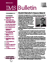 IMS Bulletin 47(7) cover image