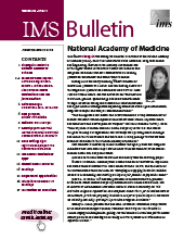 IMS Bulletin 48(1) cover image