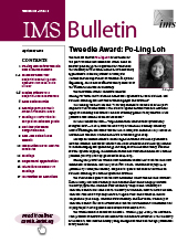 IMS Bulletin 48(3) cover image