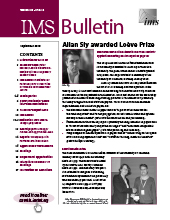 IMS Bulletin 48(6) cover image