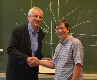 Herold Dehling (left) with Richard Davis