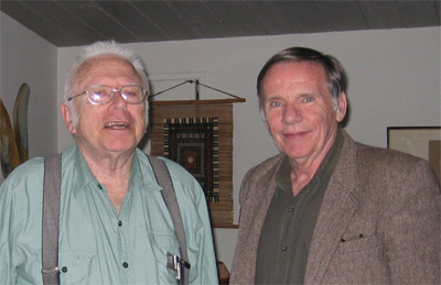 David Brillinger (right), with Murray Rosenblatt. Murray will be turning 90 later this year and there is a conference in his honor later this fall, co-organized by Dimitris Politis and Ruth Williams